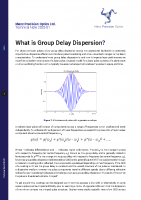 TN 2020-01 What is Group Delay Dispersion