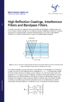 TN 2020-04 High Reflection Coatings, Interfernce Filters and Bandpass Filters